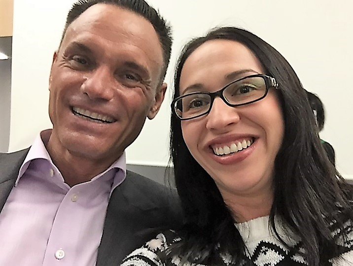 Rebeca Gelenscer and Kevin Harrington
